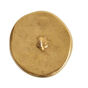 Button Organic Small Round Crossed ArrowsAntique Gold