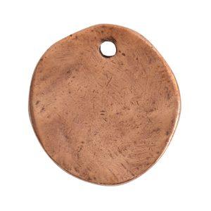 Charm Organic Small Round Crossed ArrowsAntique Copper