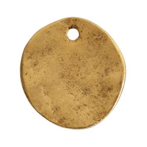 Charm Organic Small Round Crossed ArrowsAntique Gold