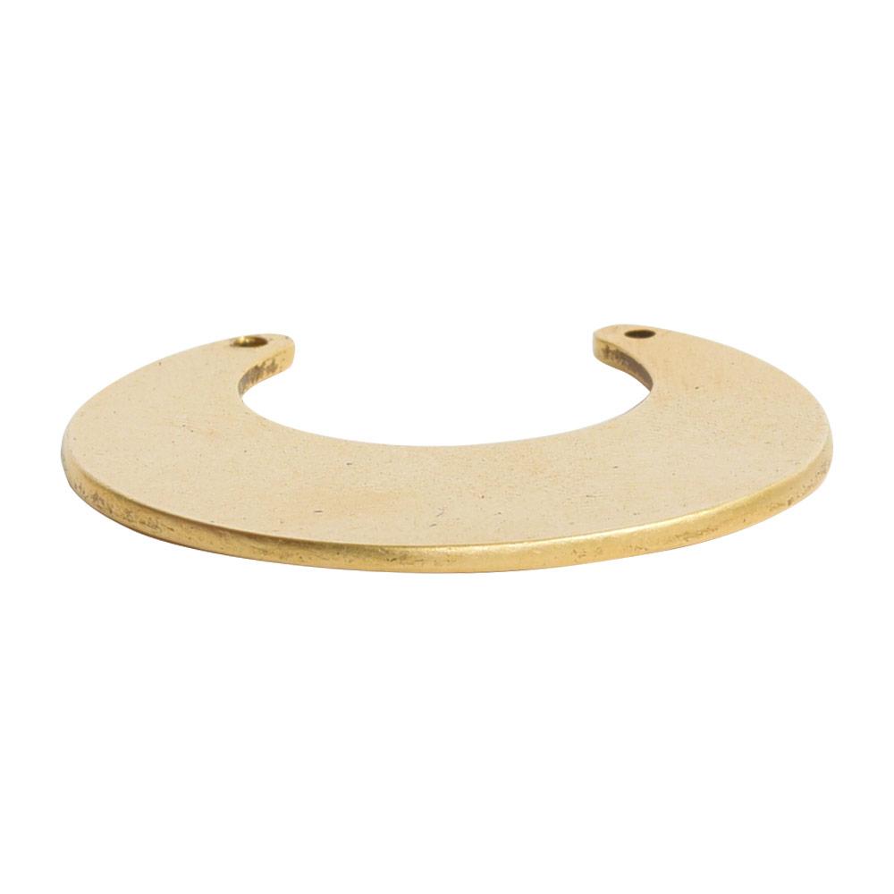 Flat Tag Grande Circle Eclipse Double HoleAntique Gold