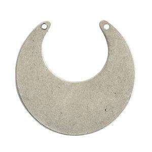 Flat Tag Grande Circle Eclipse Double HoleAntique Silver