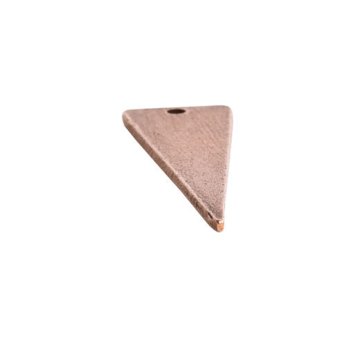 Flat Tag Large Inverted Triangle Single HoleAntique Copper