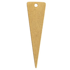 Flat Tag Large Inverted Triangle Single HoleAntique Gold