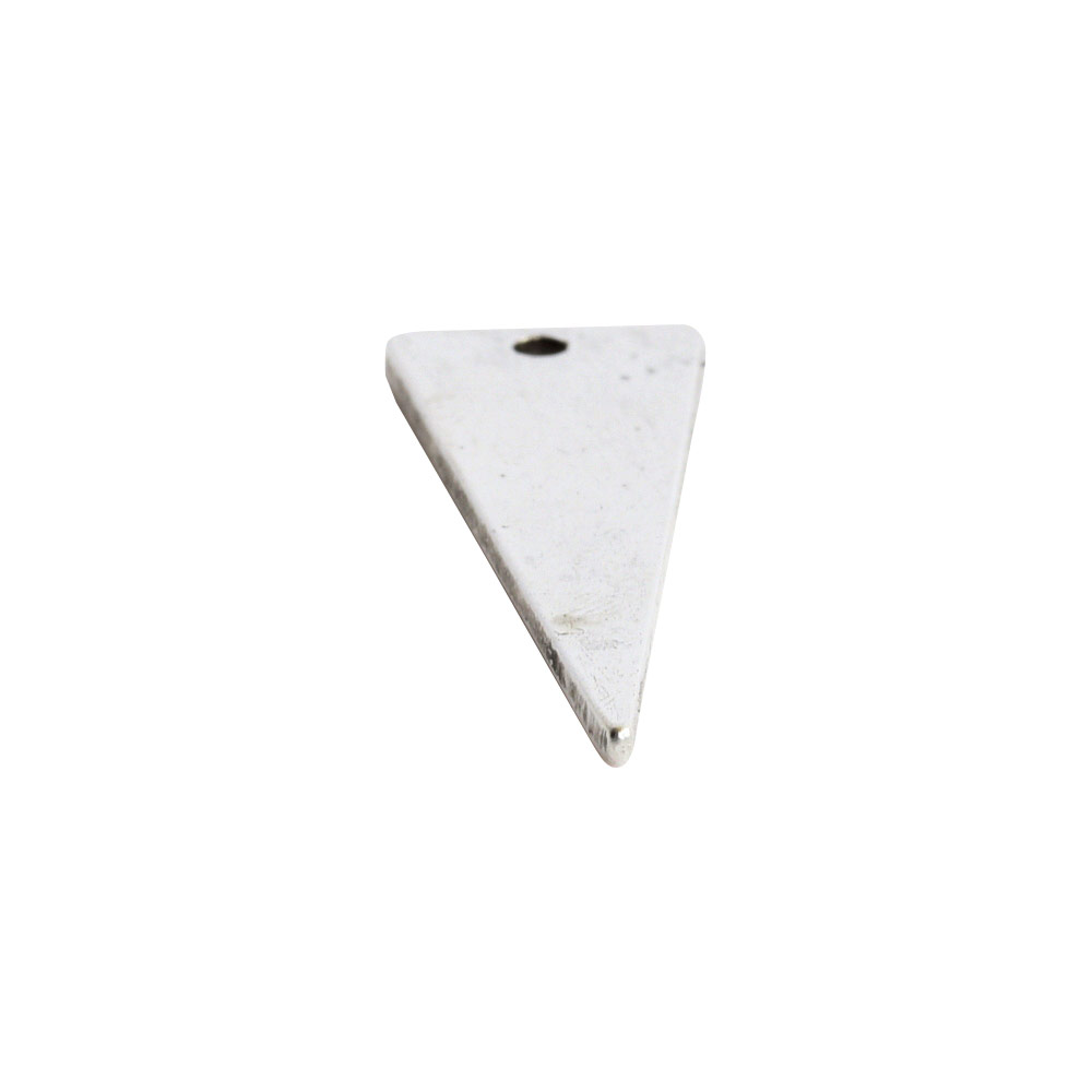 Flat Tag Large Inverted Triangle Single HoleAntique Silver