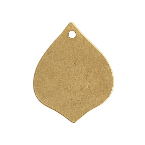 Flat Tag Small Marrakesh Single HoleAntique Gold