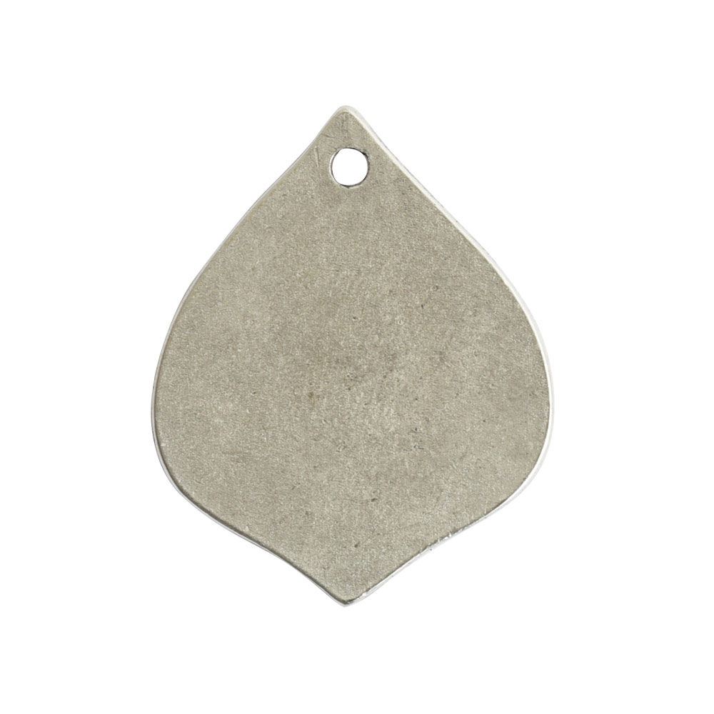 Flat Tag Small Marrakesh Single HoleAntique Silver