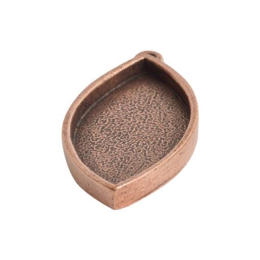 Grande Pendant Navette Single LoopAntique Copper