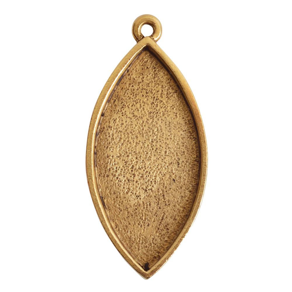 Grande Pendant Navette Single LoopAntique Gold