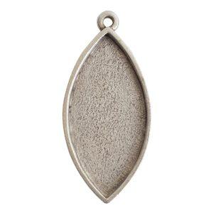 Grande Pendant Navette Single LoopAntique Silver