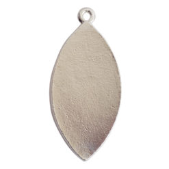 Grande Pendant Navette Single LoopSterling Silver Plate