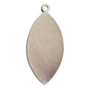 Grande Pendant Navette Single Loop<br>Sterling Silver Plate