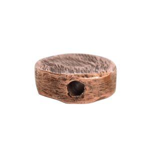 Metal Bead Organic Flat Mini CircleAntique Copper