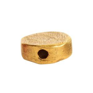 Metal Bead Organic Flat Mini Circle<br>Antique Gold