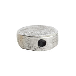 Metal Bead Organic Flat Mini CircleAntique Silver