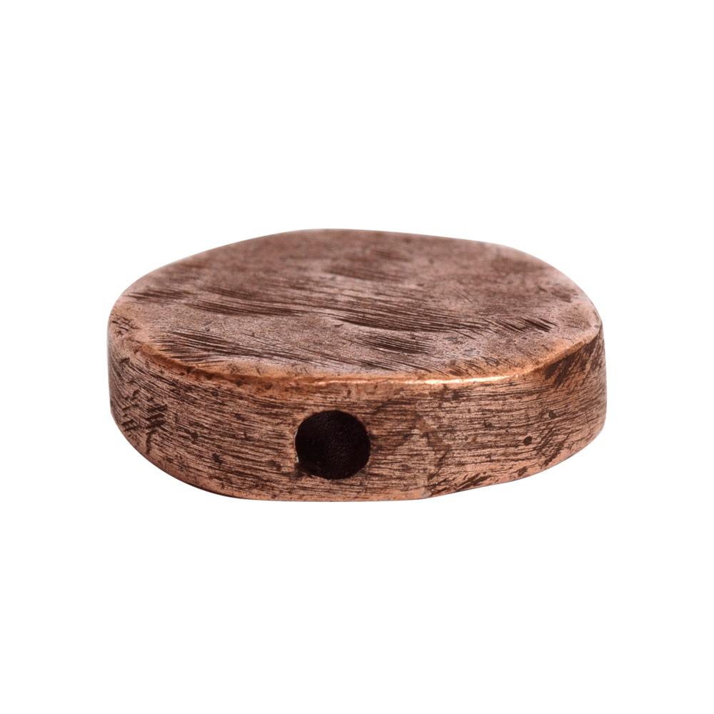 Metal Bead Organic Flat Small CircleAntique Copper