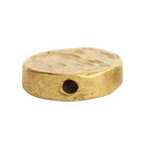 Metal Bead Organic Flat Small CircleAntique Gold