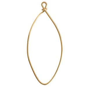 Wire Frame Large Navette Single Loop<br>Antique Gold