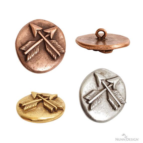 Nunn Design Organic Button Crossed Arrows
