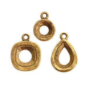 Buy & Try Findings Open Back Bezel ComboAntique Gold