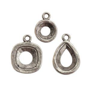 Buy & Try Findings Open Back Bezel ComboAntique Silver