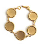 Buy & Try Findings Patera Bracelet Large CircleAntique Gold