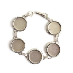 Buy & Try Findings Patera Bracelet Large CircleAntique Silver