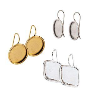Wire Bezel Earrings