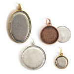 Jewelry Kits for Embroidery-Pendant Bezels