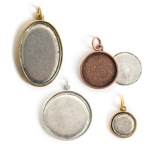 Parts & Pieces for Embroidery-Pendant Bezels