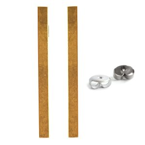 Earring Post Bar Large with Butterfly ClutchAntique Gold Nickel Free