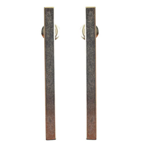 Earring Post Bar Large with Butterfly ClutchAntique Silver Nickel Free