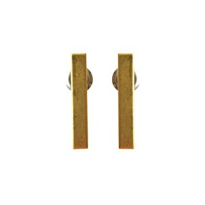 Earring Post Bar Small with Butterfly ClutchAntique Gold Nickel Free