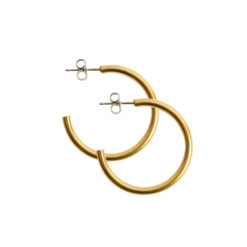 Earring Post Hoop Small with Butterfly ClutchAntique Gold Nickel Free