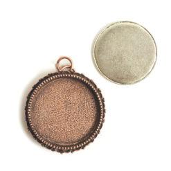 Kit Grande Brooch Circle 32mmAntique Copper