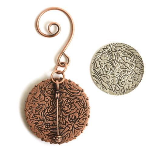 Kit Grande Brooch Circle Ornament 32mmAntique Copper
