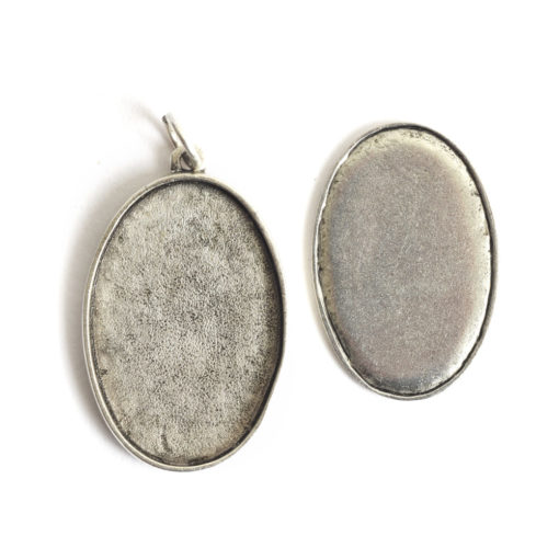 Kit Grande Oval 26x38mm 1 PackAntique Silver