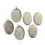 Kit Grande Oval 26x38mm 3 PackAntique Silver