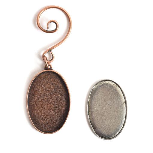 Kit Grande Oval Ornament 26x38mmAntique Copper