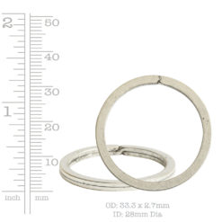Kit Key Ring Round 33mmAntique Silver