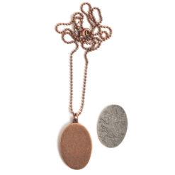"Kit Necklace Grande Oval 26x38mmAntique Copper 24"" Necklace"