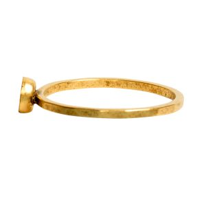Ring Hammered Thin Bitsy Circle Size 7<br>Antique Gold