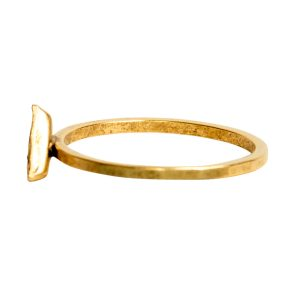 Ring Hammered Thin Bitsy Triangle Size 7<br>Antique Gold