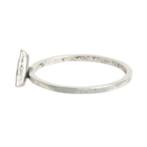 Ring Hammered Thin Bitsy Triangle Size 7<br>Antique Silver
