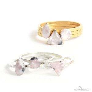 Hammered Bitsy Rings with Colorized Resin and Jacquard Pearl Ex Powdered Pigments