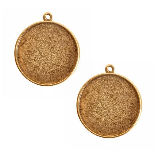 Buy & Try Findings Grande Pendant Circle Single Loop<br>Antique Gold 1
