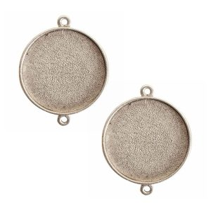 Buy & Try Findings Grande Pendant Circle Single LoopAntique Silver