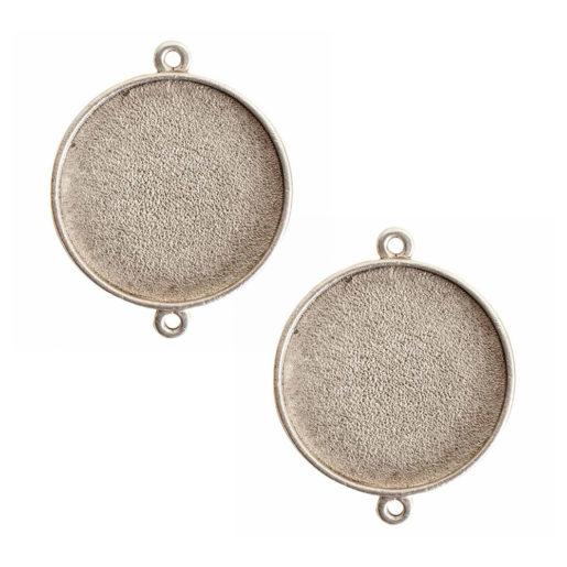 Buy & Try Findings Grande Pendant Circle Single Loop<br>Antique Silver  1