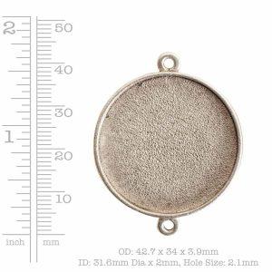 Buy & Try Findings Grande Pendant Circle Single Loop<br>Antique Silver