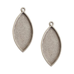 Buy & Try Findings Grande Pendant Navette Single LoopAntique Silver