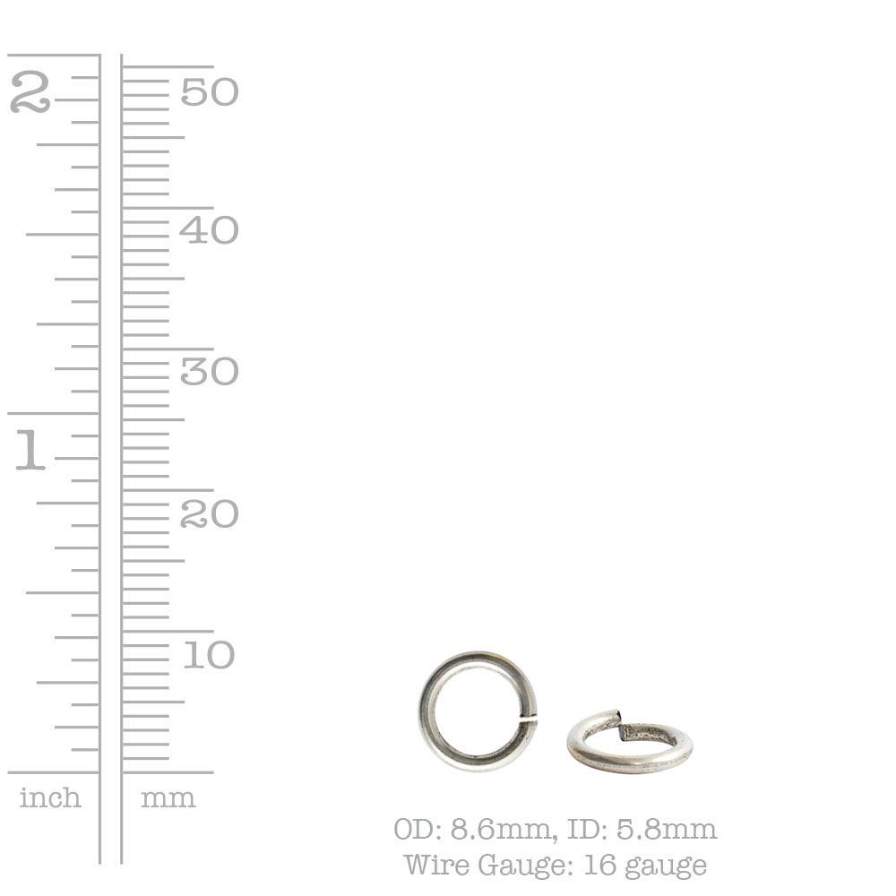 Buy & Try Findings Large JumpringsAntique Silver